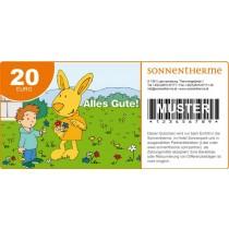 """Wertgutschein """"Alles Gute"""" 20 Euro"""