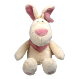 Pinky Bunny Maskottchen groß