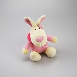 Pinky Bunny Maskottchen mit Kapuzenpulli - 25 cm