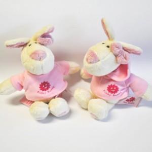 Pinky Bunny Maskottchen klein